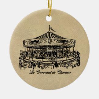 Französische Karussell-Pferde Kleid und Geschenke Weihnachtsbaum Ornament