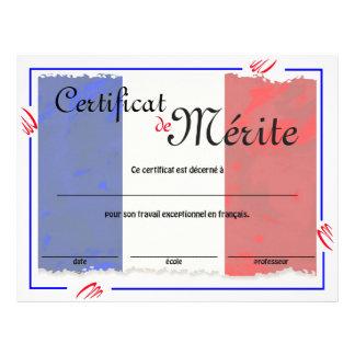 Französische Klassen-generisches Zertifikat Flyer