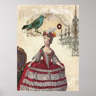 Französische Königin Marie Antoinette Poster