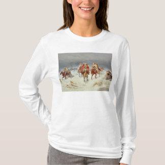 Französische Kräfte, die den Fluss Berezina T-Shirt