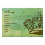 Französische Kronen-Pergament-Visitenkarten
