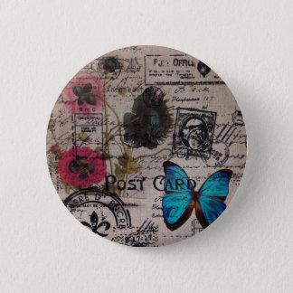 französische Landskripte der botanischen Runder Button 5,7 Cm