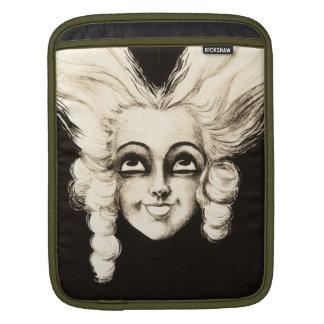 Französische Marionette Vintages Aristrocrat Perüc Sleeve Für iPads
