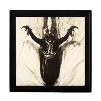 Französische Marionetten-Haarzwanziger jahre unhei Große Quadratische Schatulle