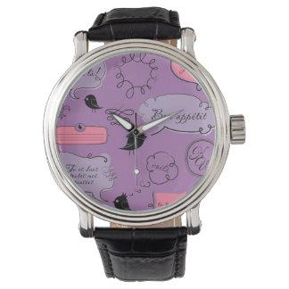 Französische Mode-Art-Sprache-Blasen Uhr