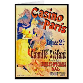 Französische Nachtklub-Anzeige 1891 Grußkarte