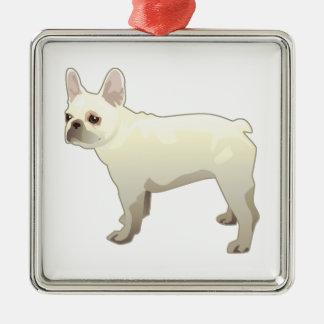 Französische Quadratisches Silberfarbenes Ornament