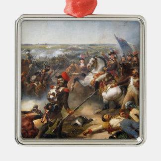 Französische Revolutions-Kampf Quadratisches Silberfarbenes Ornament