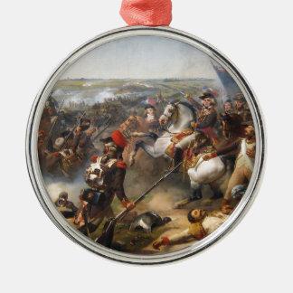 Französische Revolutions-Kampf Rundes Silberfarbenes Ornament