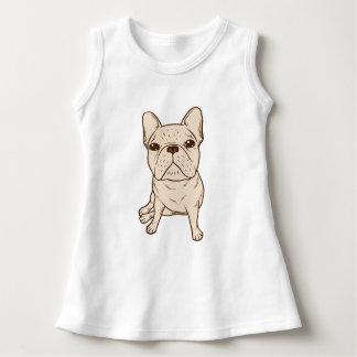 Französische Sahnebulldogge Kleid
