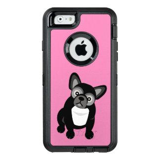 Französische Schwarzweiss-Bulldogge OtterBox iPhone 6/6s Hülle