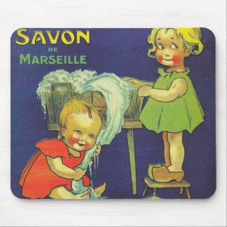 Französische Seifenaufkleber-Anzeige Kinder Mauspad