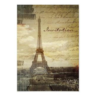 Französische Skripte moderner Vintager Turm Paris Karte