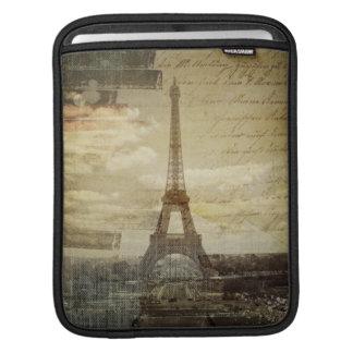 Französische Skripte moderner Vintager Turm Paris Sleeve Für iPads