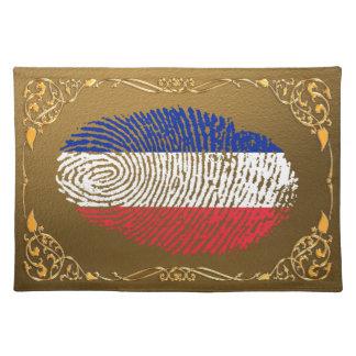 Französische Touchfingerabdruckflagge Tischset