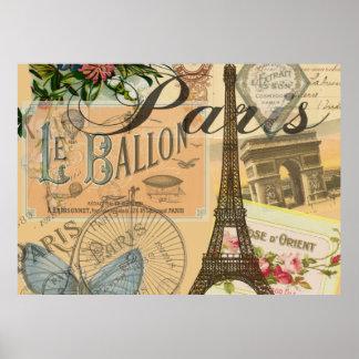 Französische Vintage Paris-Reise Poster