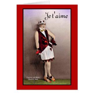 Französische Vintage Valentine-Mode Karte
