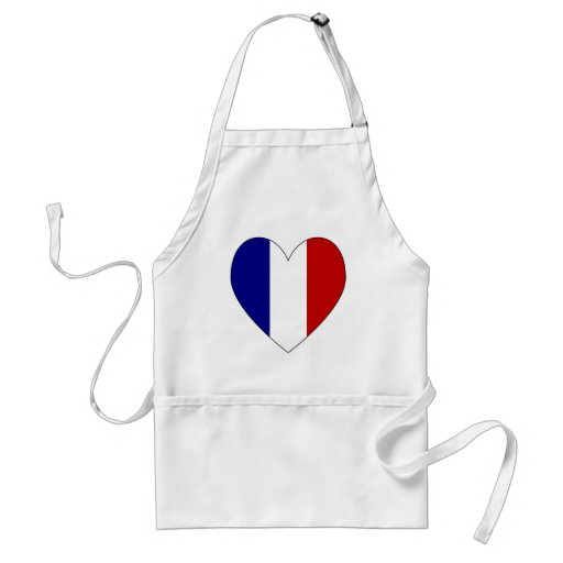 Französischer Flaggen-Herz-Valentinsgruß 1 Schürze