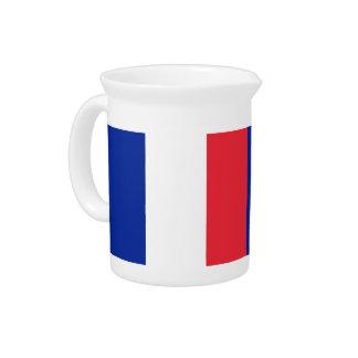 Französischer Flaggen-Krug Getränke Pitcher