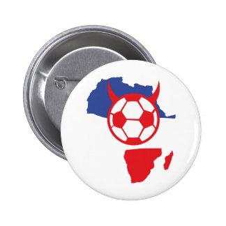 französischer Fußballteufel Afrika-Form Anstecknadelbutton