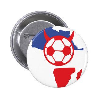 französischer Fußballteufel Afrika-Form Runder Button 5,1 Cm