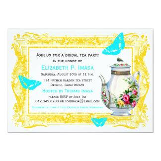 Französischer Garten-Brauttee-Party 12,7 X 17,8 Cm Einladungskarte