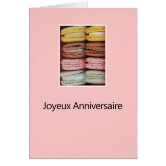 Französischer Geburtstag Macaron-Joyeux Karte
