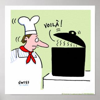Französischer Kochs-Koch-Geschenk-Cartoon-Küchen-D Posterdrucke