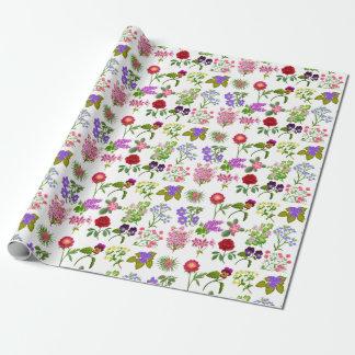 Französischer Land-Garten-BlumenPackpapier Geschenkpapier