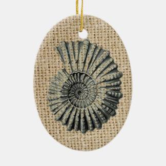 französischer Landleinwand-Strand schicker Keramik Ornament
