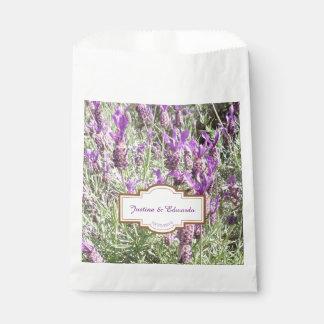 Französischer Lavendel-Blumen-kundenspezifische Geschenktütchen