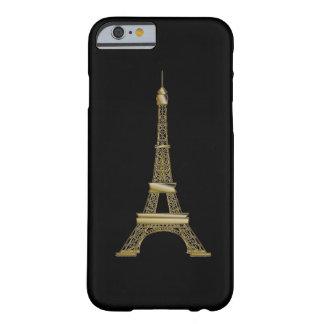 Französischer Schwarz-u. GoldEiffelturm iPhone 6 Barely There iPhone 6 Hülle