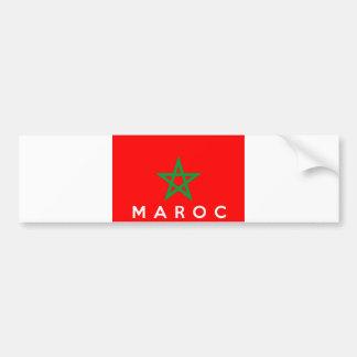 französischer Textname des Marokko maroc Autoaufkleber