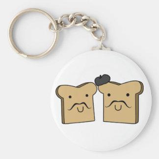 Französischer Toast Keychain Schlüsselanhänger