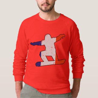 Französischer Tricolor SNOWBOARDER (Schwarzes) Sweatshirt