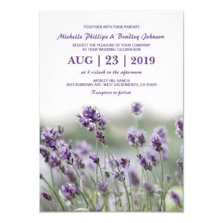 Französischer Wedding Lavendel-Blumen-Blüten Karte