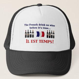 Französischer Wein-Trinker Truckerkappe