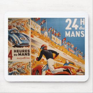 französisches Autorennen Vintag - 24h du Mans Mousepad