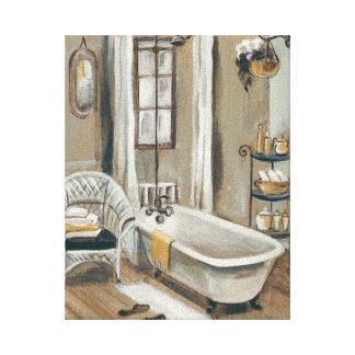 Französisches Badezimmer mit Badewanne Leinwanddruck