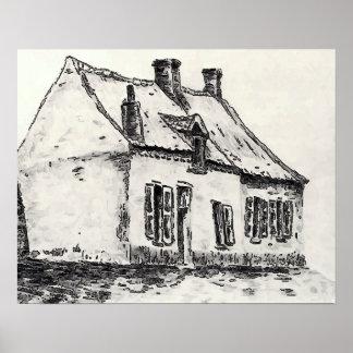 Französisches Bauernhof-Haus Poster