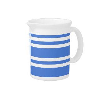 Französisches Blau-und Weiß-Streifen Getränke Pitcher
