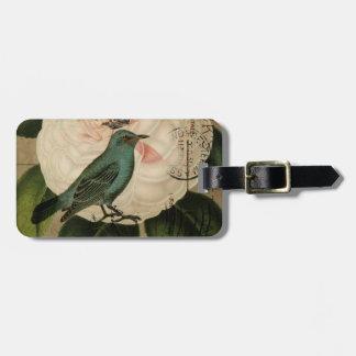 Französisches botanisches Vintagen Kamelie Gepäckanhänger