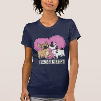 Französisches (Bulldogge) Küssen Shirt