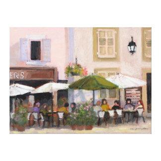 Französisches Café Leinwanddrucke