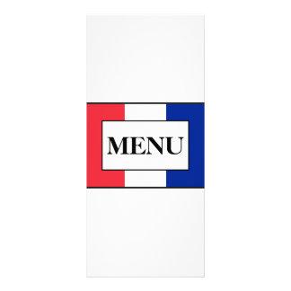 Französisches Flaggen-Hochzeits-Menü Werbekarten