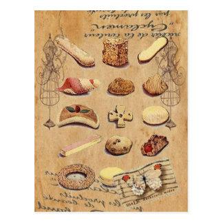 Französisches Gebäck süßer Leckerei-Catering-Paris Postkarte