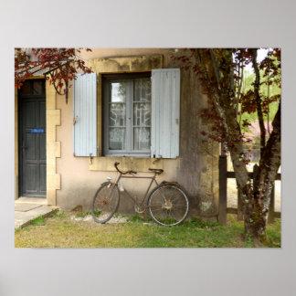 Französisches Haus-Plakat Poster