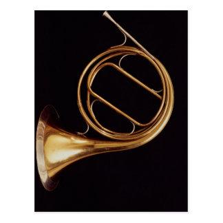 Französisches Horn, durch Marcel Auguste Raoux Postkarte
