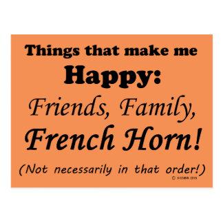 Französisches Horn macht mich glücklich Postkarte