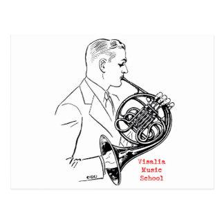 Französisches Horn-Mann-Postkarte VMSs Postkarte